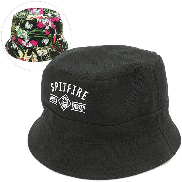Spitfire men s Hawaiian burn unit Cap Hat Spitfire Burn Unit Hawaiian Bucket  Hat Reversible Floral Black (5031000700 SS16) 2a2810da5