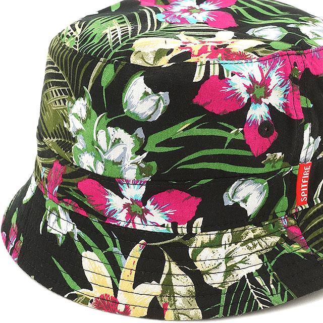 Spitfire men s Hawaiian burn unit Cap Hat Spitfire Burn Unit Hawaiian  Bucket Hat Reversible Floral Black (5031000700 SS16) 8de57a26971