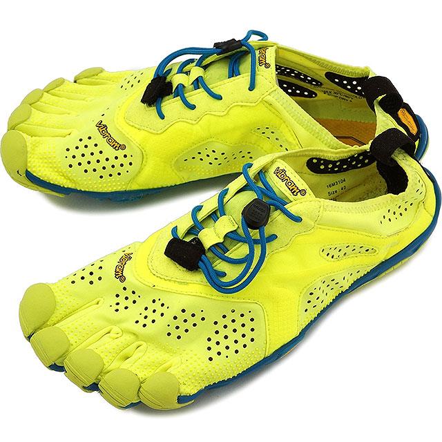 Vibram FiveFingers Vibram five fingers men's V-Run Yellow/Blue/Teal Vibram five fingers five finger shoes barefoot (16M3104)