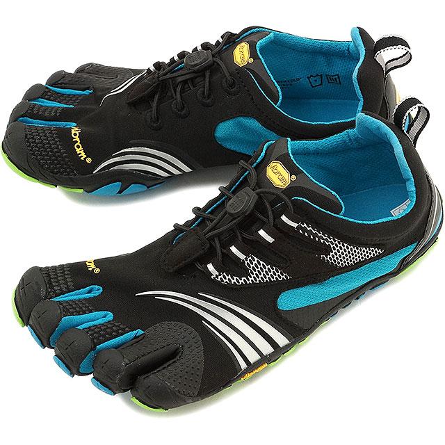 sports shoes 0161b bf3e5 Vibram FiveFingers Vibram five fingers mens KMD Sport LS Black Blue Green  Vibram five ...