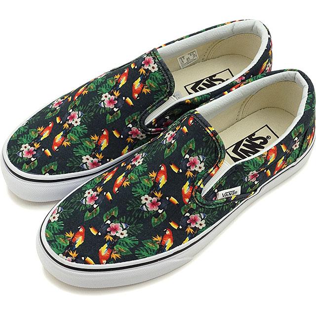 512e424a588 VANS vans slip-ons sneakers men gap Dis CLASSIC SLIP-ON classical music slip -on (CHAMBRAY) PARROT TRUE WHITE (VN0003Z4IB1 SS16)