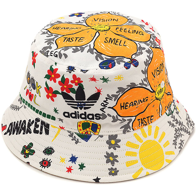 adidas Originals adidas originals Apparel Mens ladies BUCKET HAT STRANDED  stranded bucket Hat white AO2364 SS16 cc6b6eb4b2