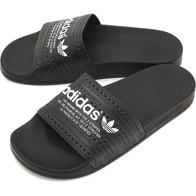 8ac63b3bb484 Adidas originals adiliette adidas Originals ADILETTE core block   core  black   running white shower Sandals mens Womens S78689 SS16
