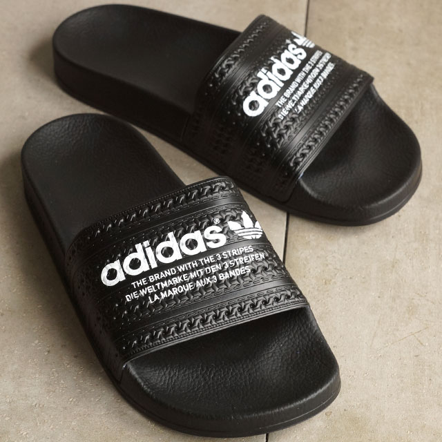Adidas originals adiliette adidas Originals ADILETTE core block / core black / running white shower Sandals mens Womens S78689 SS16