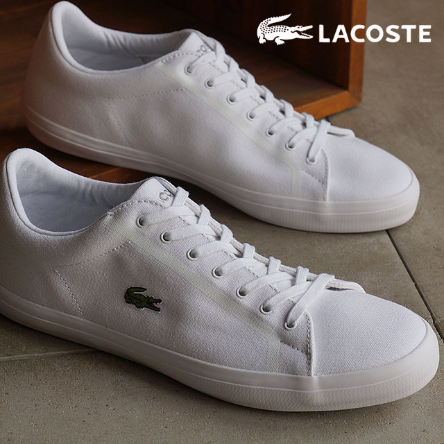 700aeed59 mischief  Lacoste men s sneakers Lalonde LACOSTE LEROND WHT  MSJ053 ...