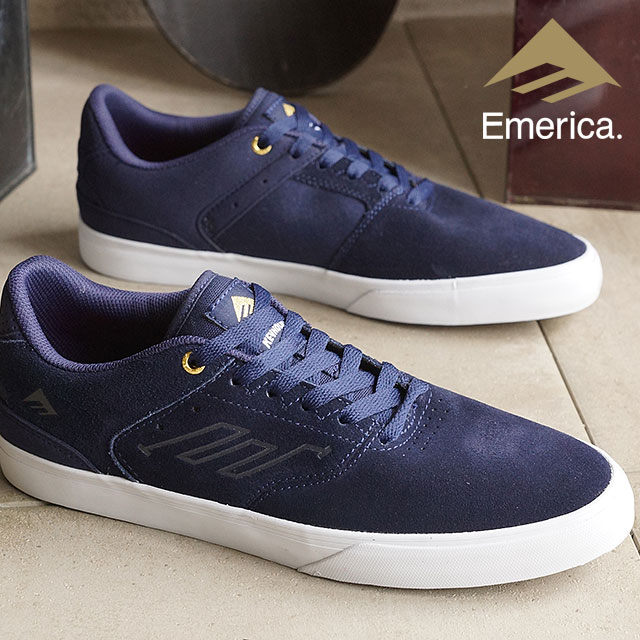 67b96f68cc30 Emerica Skate Shoes Sneakers Reynolds row Barca Emerica REYNOLDS LOW VULC  NAVY WHITE GOLD (SU16)