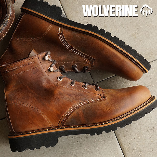 f7581b6d5b6 ウルヴァリンデュバルワークブーツ WOLVERINE Wolverene men DUVALL BROWN shoes (W40041)