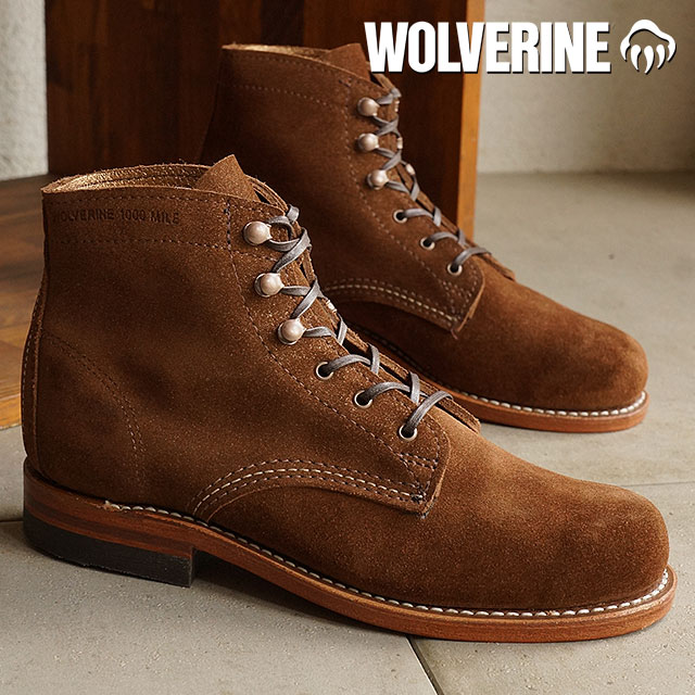 49bb8607a8d Wolverine 1000 mile work boot WOLVERINE Wolverine women's women's 1,000  MILE BROWN SUEDE (W40075)