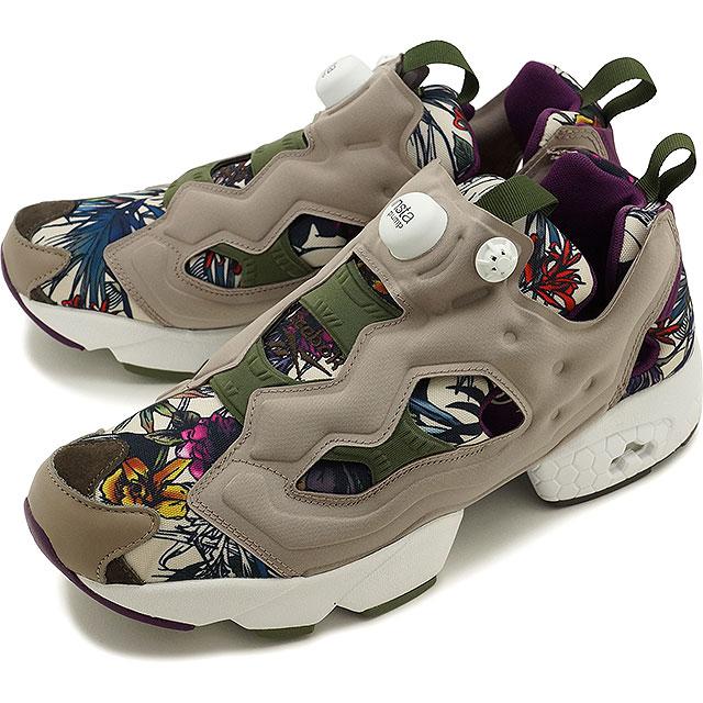 7744fffde2c2a1 Reebok classics men s women s sneaker instapompfury SG Reebok CLASSIC INSTAPUMP  FURY SG BCH STONE PPRWHITE GREEN (V70101 SS16)
