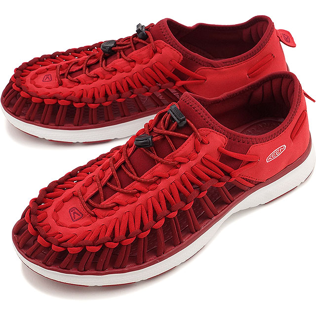 キーンユニークオーツー KEEN MEN UNEEK O2 RACING RED WHITE sandal sneakers shoes  (1015519 SU16)