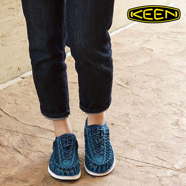 365b9b795973 キーンレディースユニークオーツー KEEN sandal sneakers shoes WOMEN UNEEK O2 INK BLUE WHITE  (1015574 SU16)