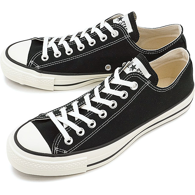 【国産モデル】コンバース キャンバス オールスター J ローカット CONVERSE CANVAS ALL STAR J OX ブラック 靴 [32167431][e]
