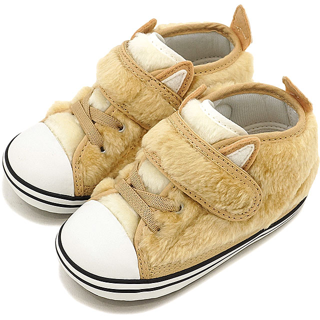 89f1b4460ba9 Baby converse all-star N animal fur Velcro-1 CONVERSE kids infant sneakers  first shoes ALL STAR N AMFUR V-1 Brown Fox (32711979 HO16)