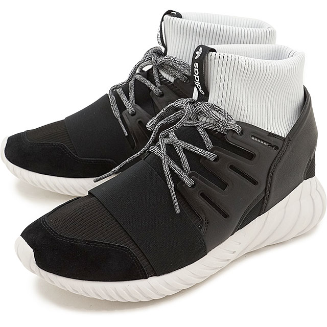 finest selection 1377c 388ec アディダスオリジナルスチュブラードーム adidas Originals TUBULAR DOOM C black /C black /R white  shoes (BA7555 SS17)