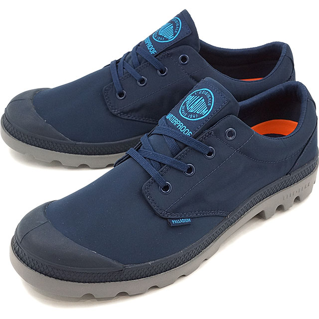 PALLADIUM パラディウム メンズ レディース Pampa Oxford Puddle Lite WP パンパ ローカット パドルライト ウォータープルーフ Navy/Metal 靴 (75427-418 SS17)【コンビニ受取対応商品】