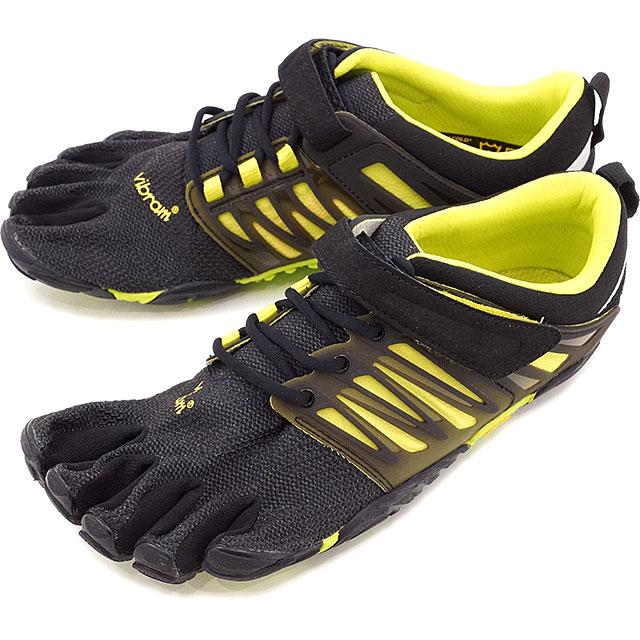 Vibram FiveFingers ビブラムファイブフィンガーズ メンズ MNS V-TRAIN BLAKC/GREEN ビブラム ファイブフィンガーズ 5本指シューズ ベアフット 靴 [17M6602]
