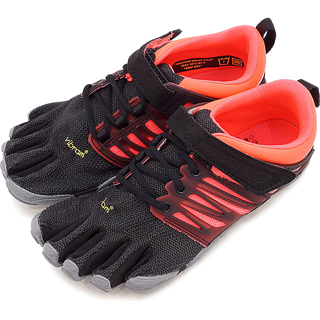 Vibram FiveFingers ビブラムファイブフィンガーズ レディース WMNS V-TRAIN BLACK/CORAL/GREY ビブラム ファイブフィンガーズ 5本指シューズ ベアフット 靴 (17W6604)【コンビニ受取対応商品】