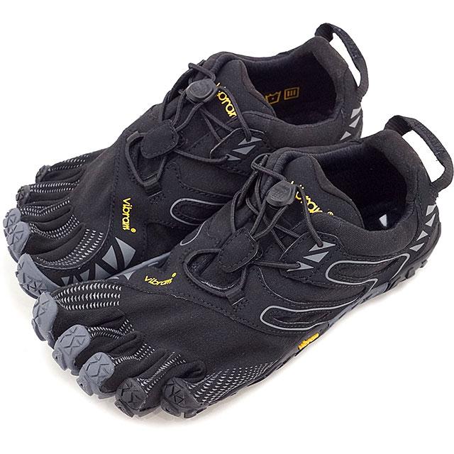 Vibram FiveFingers ビブラムファイブフィンガーズ レディース WMNS V-TRAIL BLACK/GREY ビブラム ファイブフィンガーズ 5本指シューズ ベアフット 靴 (17W6905)【コンビニ受取対応商品】