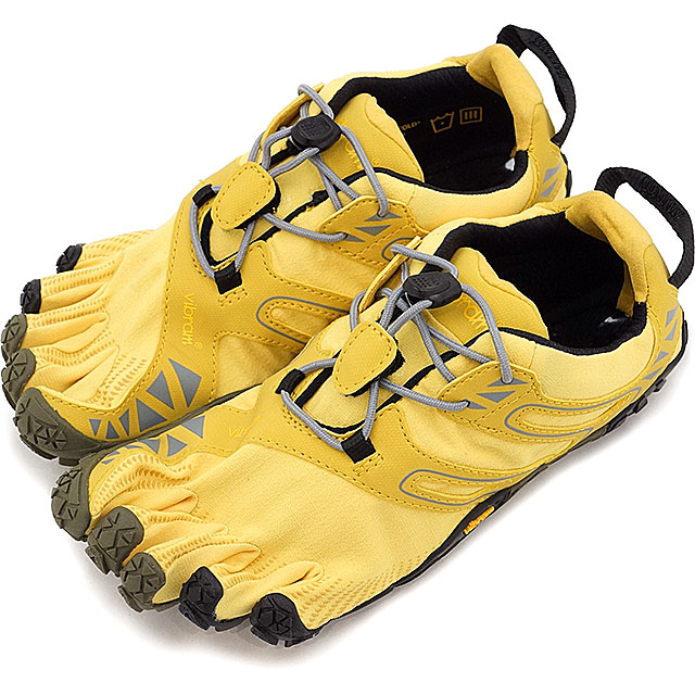 Vibram FiveFingers ビブラムファイブフィンガーズ レディース WMNS V-TRAIL YELLOW/BLACK ビブラム ファイブフィンガーズ 5本指シューズ ベアフット 靴 (17W6907)【コンビニ受取対応商品】