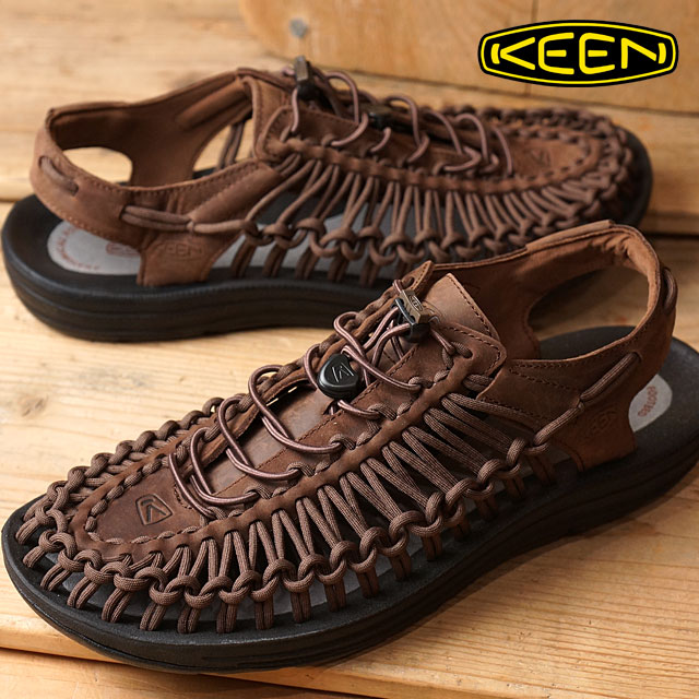 1e56c3d660ea KEEN Kean unique leather sandal men UNEEK LEATHER MNS Bison Black (1017199)