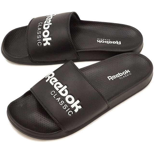 942b69a8f0e7c Reebok CLASSIC Reebok classical music CLASSIC SLIDE classical music slide  black   white shoes (BS7414)