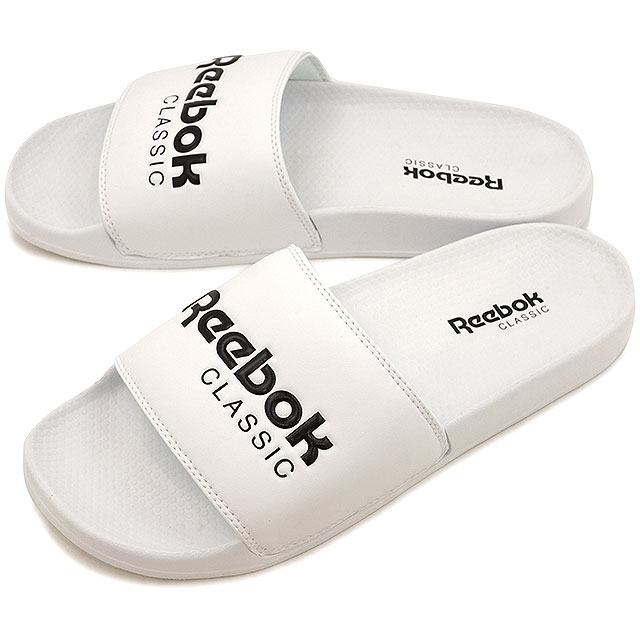 76a37f0f14a6e Reebok CLASSIC Reebok classical music CLASSIC SLIDE classical music slide  white   black (BS7417 SS17)