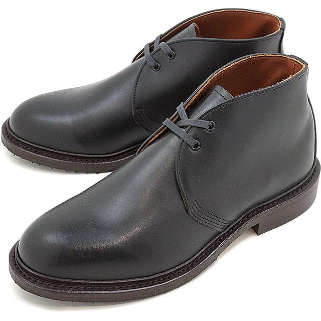 【返品サイズ交換可】REDWING レッドウィング メンズ CAVERLY CHUKKA キャバリー・チャッカブーツ Black Featherstone 靴 [9097 SS17]