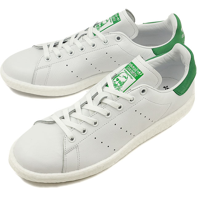 watch 768bc d4347 Adidas originals Stan Smith boost adidas Originals STAN SMITH BOOST R white  /R white / green shoes (BB0008 SS17)