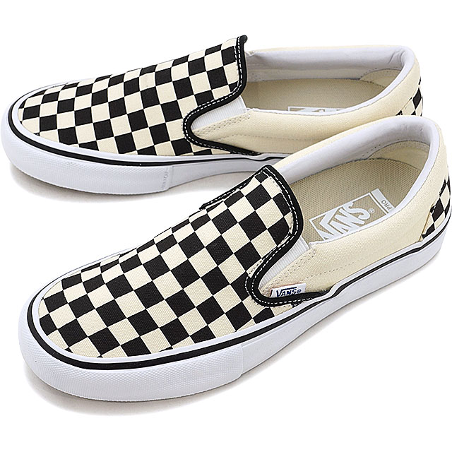 VANS vans SLIP-ON PRO CHECKER BOARD slip-on pro slip-ons checkerboard  BLACK/WHITE shoes (VN0A347VAPK SS17)
