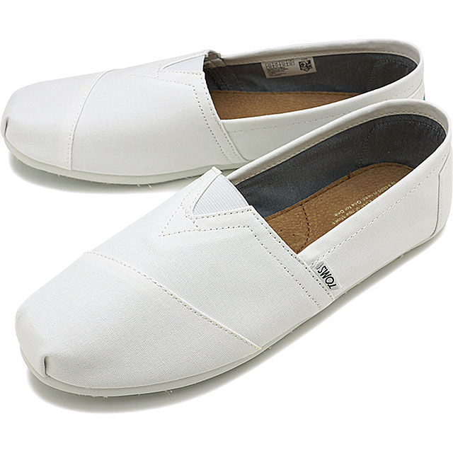 fd342da22ea TOMS Tom s men MENS SEASONAL CLASSICS seeds null classical music slip-ons  canvas O.White Canvas (10008369 SS17)