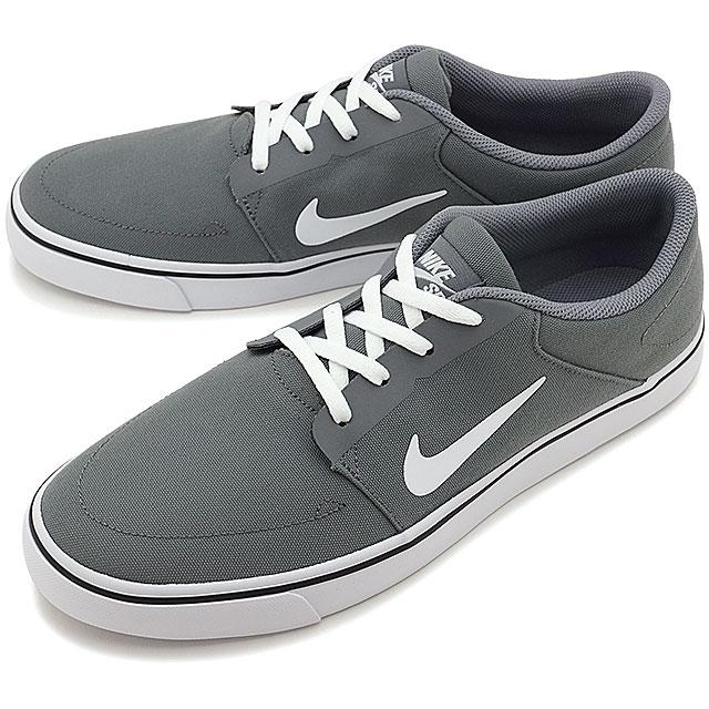 NIKE Nike men SB PORTMORE CNVS Nike SB port more canvas C gray   white    black shoes (723 4c0e8d0a2