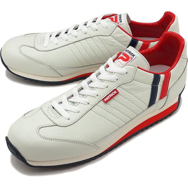 【返品送料無料】【定番モデル】PATRICK パトリック スニーカー MARATHON-L マラソン・レザー メンズ レディース 日本製 靴 TRC トリコロール [98800]