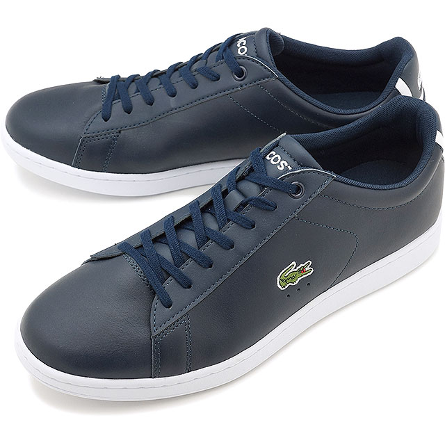 7632396ed LACOSTE Lacoste leather sneakers shoes CARNABY EVO BL 1 カーナビーエヴォネイビー  (MSM002-003 SS17)