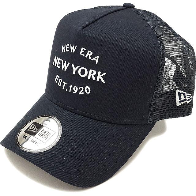 NEWERA new gills cap New Era 9FORTY A-Frame Trucker NY New Era New York  LOGO new gills New York logo mesh cap baseball cap hat navy   Snow white  (11404705 ... ab0960f90a8