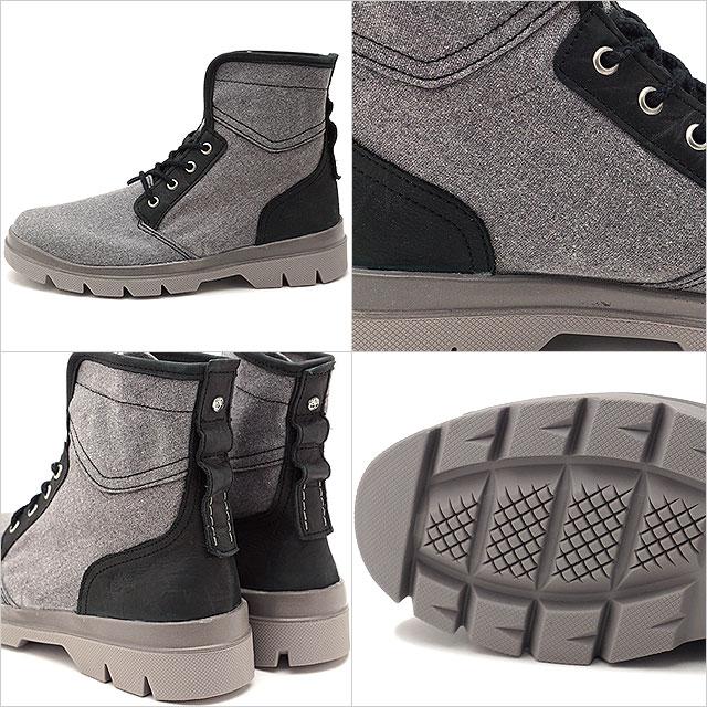 Timberland timbarandomenzubutsu City Blazer Fabric and Leather Boot城运动衣纤维和皮革长筒靴Dark Grey Canvas/Full-Grain(A1GFV SS17)