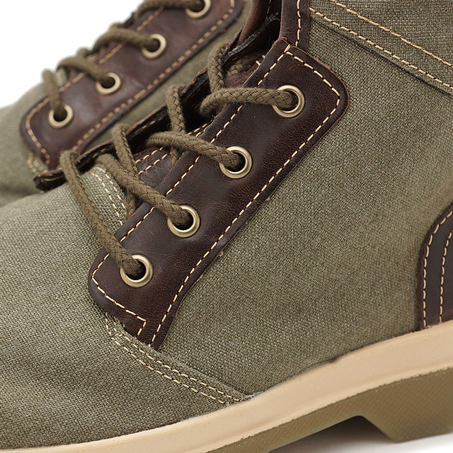 Timberland timbarandomenzubutsu City Blazer Fabric and Leather Boot城運動衣纖維和皮革長筒靴Olive Canvas/Full-Grain(A1GG7 SS17)