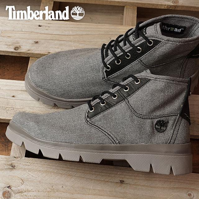 Timberland timbarandomenzubutsu City Blazer Fabric and Leather Chukka shitibureizafaburikkuandochakkabutsu Dark Grey Canvas/Full-Grain(A1BB1 SS17)