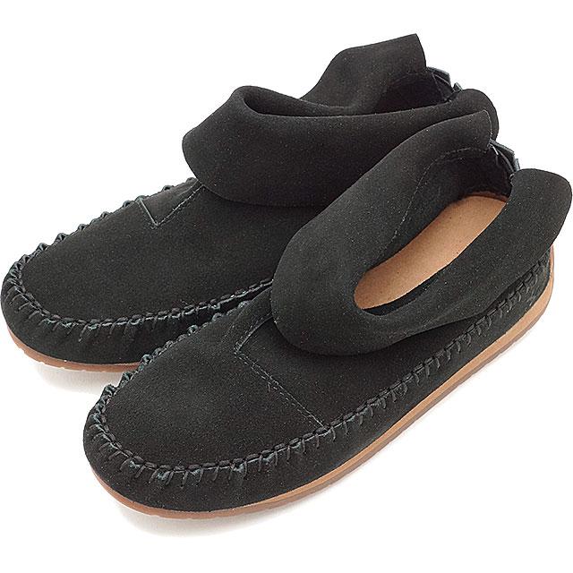 【即納】emu エミュー モカシン ショートブーツ BERRIGAN ブラック 靴 (W11389 SS17)【コンビニ受取対応商品】
