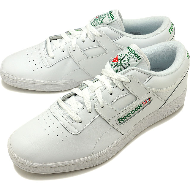 a44b86c9d815f Reebok CLASSIC Reebok classical music CLUB WORKOUT club practice game  WHITE GLEN GREEN RED (BD3243 SS17)