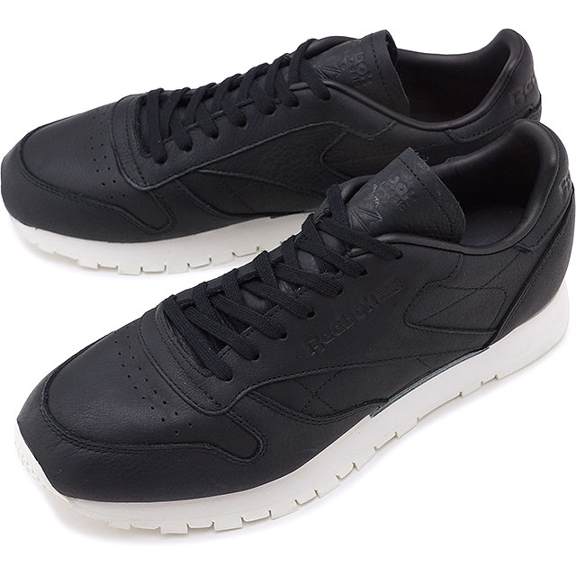 8aa2a49fd95b Reebok CLASSIC Reebok classical music CL LEATHER OMN classical music  leather Old Meets New Pack BLACK shoes (BD1906 SS17)