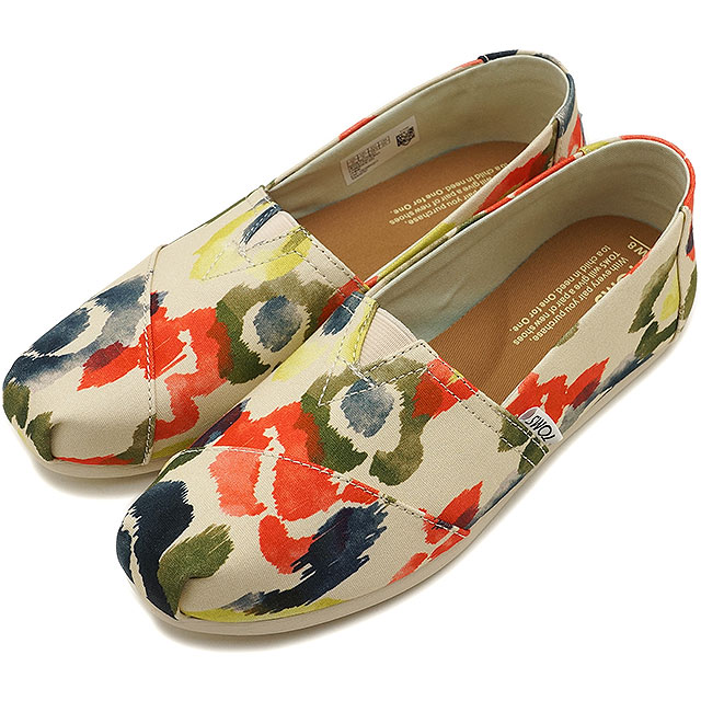 TOMS Tom's Lady's WOMENS SEASONAL CLASSICS seeds null classical music slip-ons canvas T.Watercolor Floral (10009761 SS17)