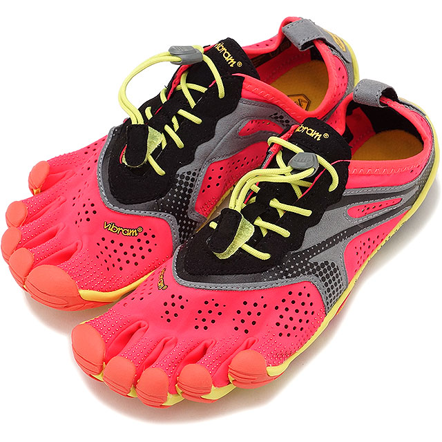 Vibram FiveFingers ビブラムファイブフィンガーズ レディース ランニングモデル WMN V-RUN FIERY CORAL ビブラム ファイブフィンガーズ 5本指シューズ ベアフット 靴 (17W7004)【コンビニ受取対応商品】