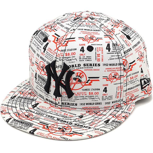 d738ba6a6 NEWERA new gills cap New Era 59FIFTY NY MLB TICKET New York Yankees MLB  ticket baseball cap hat print / black (11404775 SS17)