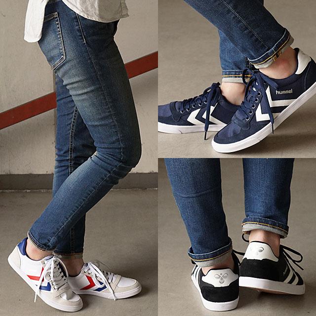 76363de5a35c hummel Hyun Mel sneakers shoes men gap Dis SLIMMER STADIL CANVAS LOW  sleeved