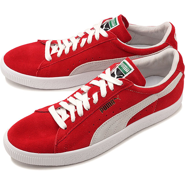 PUMA Puma suede men SUEDE 90681 suede cloth 90681 RIBBON RED PUMA WHITE  shoes (365 9dd92ddfe