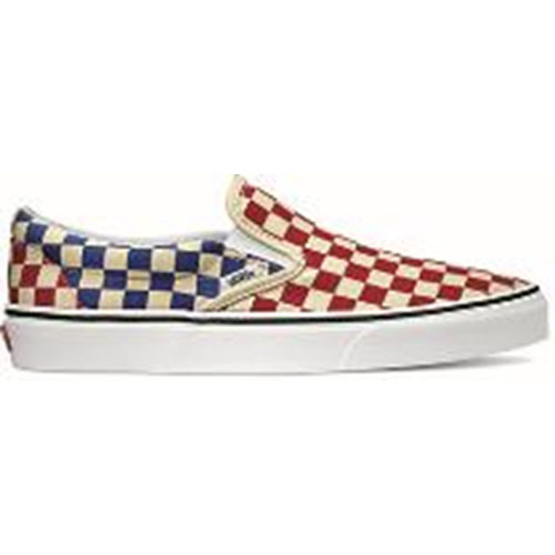 44b0849db2 VANS vans men sneakers shoes Checkerboard Classic Slip-On checkerboard  classical music slip-on slip-ons red blue red   navy (VN0A38F7QCS SS18)