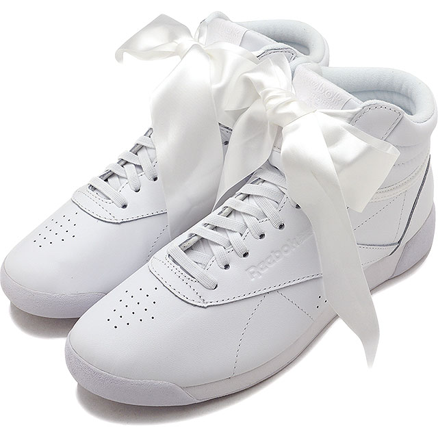 0a53f485292 Reebok CLASSIC Reebok classical music sneakers shoes Lady s F S HI SATIN  BOW free-style satin bow tie white  S gray (CM8903 SS18)