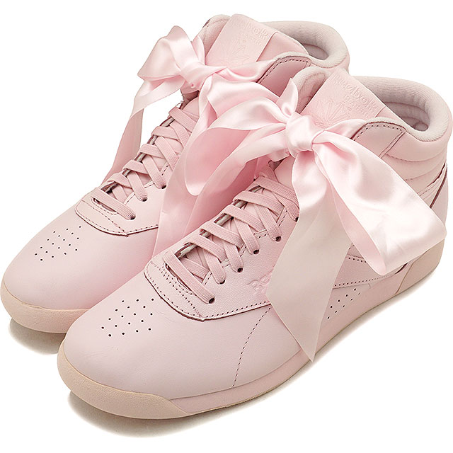 e317cdc535a7 Reebok CLASSIC Reebok classical music sneakers shoes Lady s F S HI SATIN  BOW free-style satin bow tie P pink  S gray (CM8905 SS18)