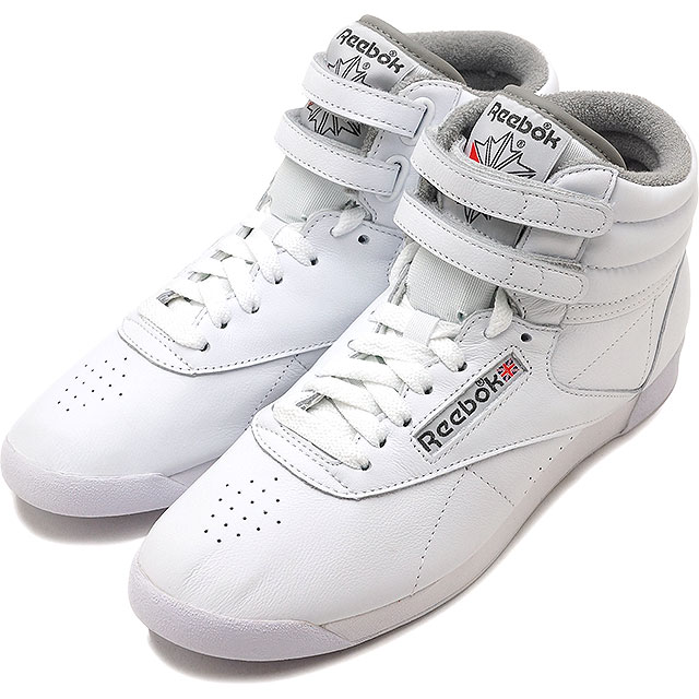 sale retailer 13af7 8861b Reebok CLASSIC Reebok classical music sneakers shoes Lady's F/S HI ARCHIVE  free-style high archive white / carbon / red / gray (CN0796 SS18)