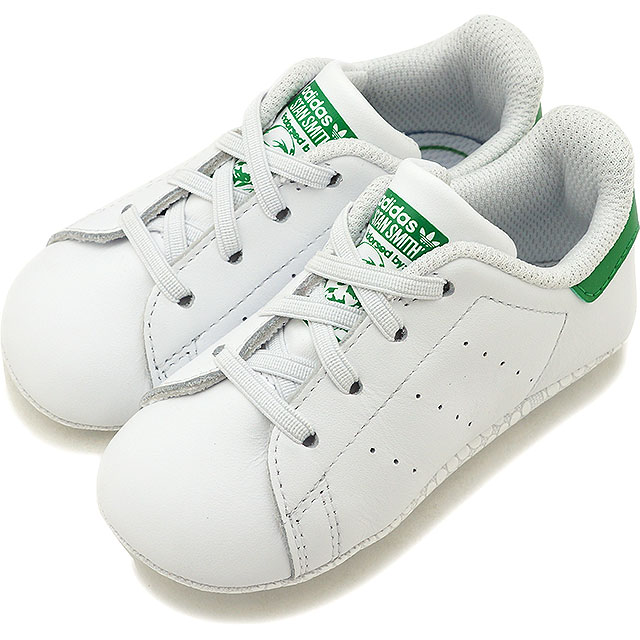newest 57f4e 5d5d8 adidas Adidas sneakers shoes kids originals STAN SMITH CRIB Stan Smith baby  R white  R white   green (B24101 SS18)